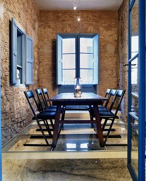 后现代风格大户型室内餐厅装修实景图