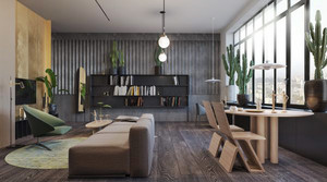 76平米后现代风格一居室室内装修效果图赏析
