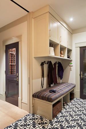 简欧风格大户型室内进门玄关鞋柜设计装修效果图