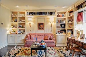 欧式风格大户型室内温馨书房装修效果图赏析