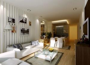 现代简约风格大户型室内客厅背景墙装修效果图