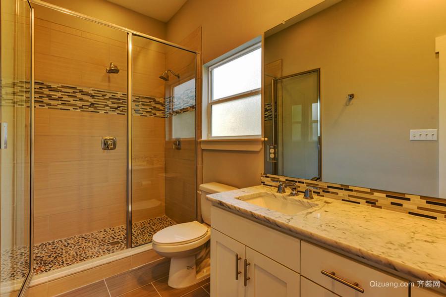 欧式风格大户型室内卫生间淋浴房装修效果图赏析