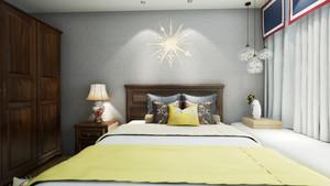 100平米现代美式风格两居室装修效果图案例