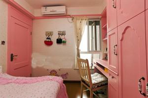 99平米明亮美式田园风格两室两厅室内装修效果图赏析
