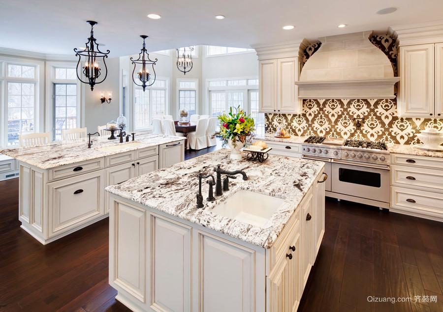欧式风格精致典雅厨房橱柜设计装修效果图赏析