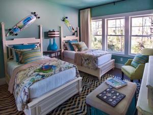 300平米清新美式风格别墅室内装修效果图案例