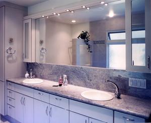 简约美式风格大户型室内卫生间浴室柜装修效果图赏析