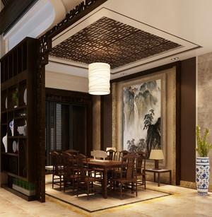中式风格大户型室内餐厅隔断设计装修效果图赏析