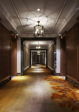 200平米新中式风格酒店过道设计装修效果图赏析