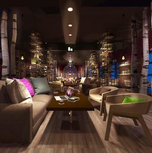 96平米宜家风格咖啡厅沙发装修效果图赏析