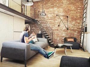 60平米北欧风格loft装修效果图案例