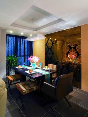 123平米东南亚风格两室两厅室内装修效果图案例
