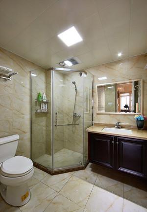 146平米复古美式风格三室两厅两卫装修效果图案例