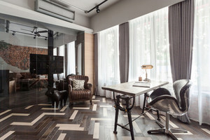 120平米后现代工业风格创意室内装修效果图鉴赏