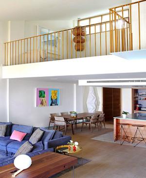 90平米现代风格loft装修效果图赏析