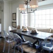 美式风格大户型室内餐厅吊灯设计装修效果图