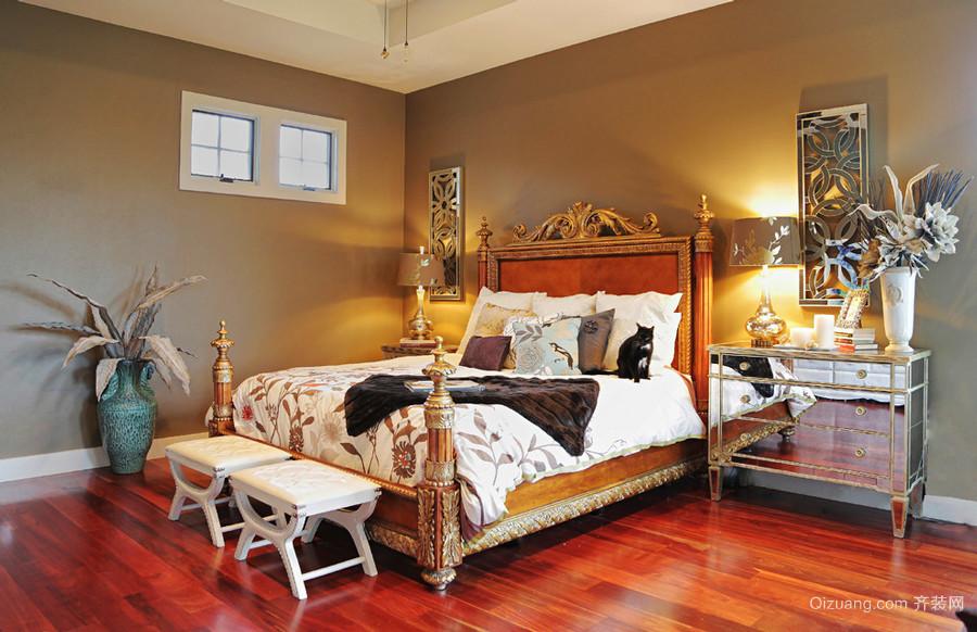 复古欧式风格大户型卧室装修效果图赏析