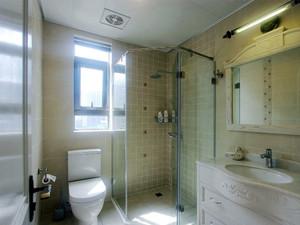 105平米美式田园风格三室两厅室内装修效果图案例