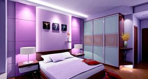 现代简约风格两居室室内卧室衣柜设计装修效果图