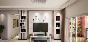 65平米现代简约风格一居室小户型室内装修效果图案例
