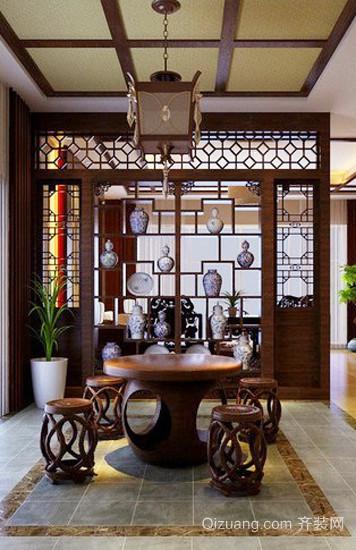鄉村風格兩居室客廳餐廳隔斷設計裝修效果圖賞析
