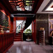 中式风格复式楼楼梯装修实景图赏析