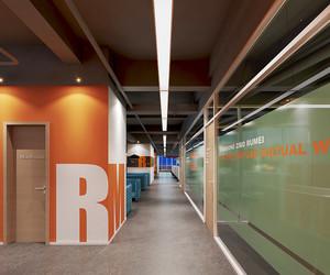 120平米现代简约风格办公室隔断设计装修效果图