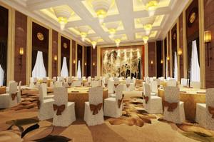 130平米欧式风格酒店宴会厅装修效果图