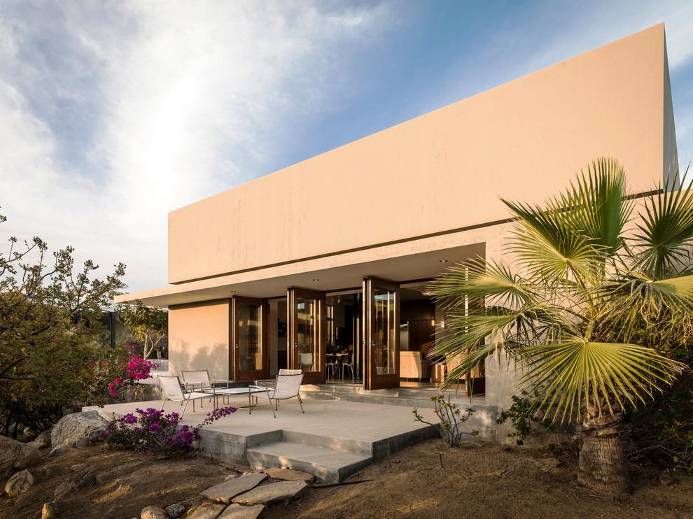 现代风格两层别墅外观设计装修效果图图片