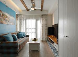 63平米地中海风格蓝色小屋一居室小户型装修效果图