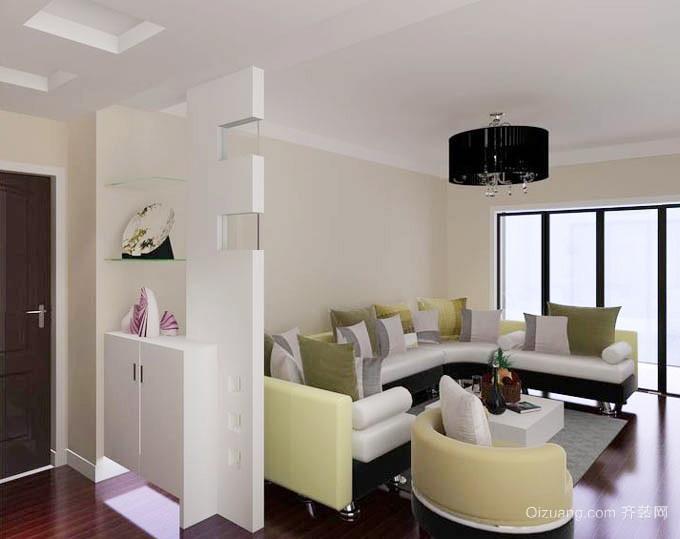 现代简约风格小户型客厅玄关隔断设计装修效果图