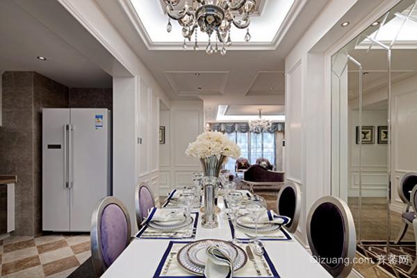 155平米古典欧式风格三室两厅室内装修效果图赏析