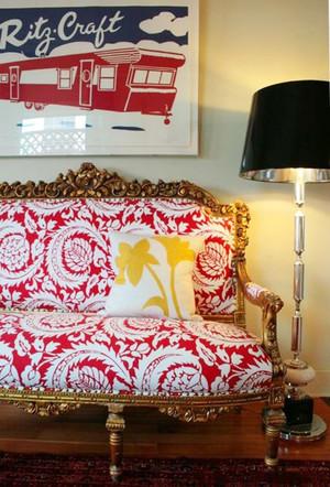 90平米混搭风格缤纷色彩室内装修效果图案例