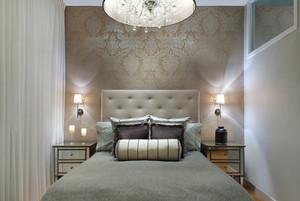 简欧风格大户型室内唯美卧室墙纸装修效果图