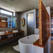 日式风格大户型室内卫生间隔断设计装修效果图赏析