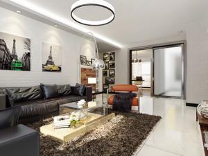60平米现代风格室内装修效果图案例