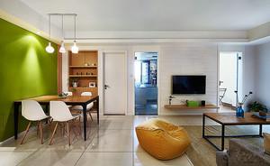 70平米现代简约风格两室一厅室内装修效果图赏析