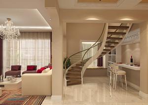 现代简约风格复式楼楼梯装修效果图赏析