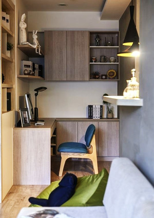 62平米现代风格朴素一居室小户型室内装修效果图赏析