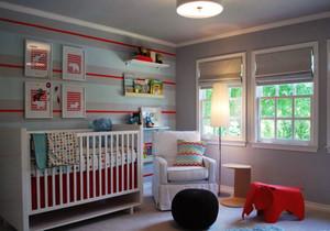 简欧风格温馨舒适婴儿房设计装修效果图