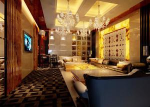 66平米欧式风格KTV沙发设计装修效果图赏析