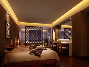 40平米中式风格宾馆标准间装修效果图