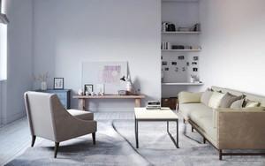 56平米北欧风格轻松自然单身公寓装修效果图