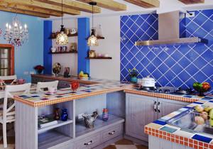 地中海风格小户型厨房餐厅装修效果图赏析