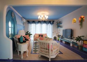 地中海风格两居室室内客厅装修效果图赏析