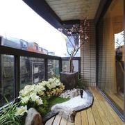中式风格大户型阳台花园设计装修效果图赏析