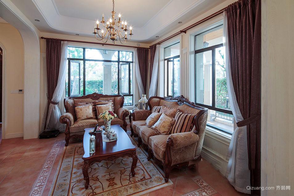 300平米古典欧式风格别墅室内装修效果图案例