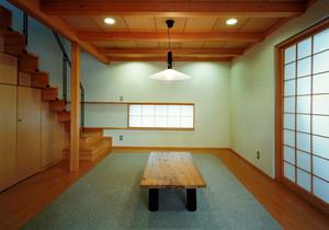 日式风格小复式楼客厅榻榻米装修效果图赏析
