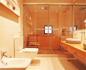106平米日式风格自然禅意三室两厅室内装修效果图