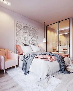 北欧风格小户型卧室隔断设计装修效果图大全